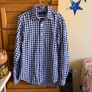 Ralph Lauren medium checkered polo shirt.